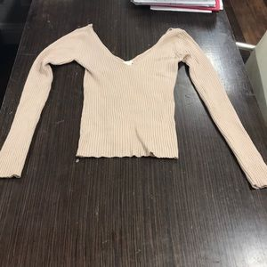 H&M long sleeve knit top XS